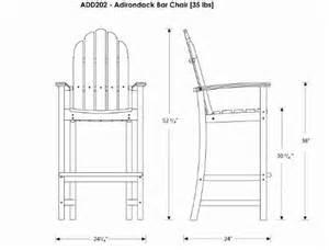 bar height adirondack chair plans search