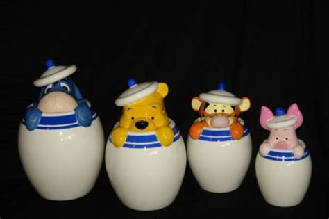 Pooh Canester disney direct china cookie jar canister set winnie the pooh tiger piglet eeyore home kitchen