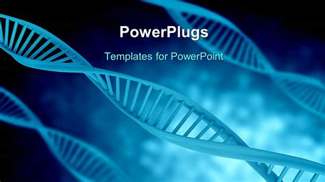 ppt themes for biotechnology powerpoint template a bluish background with dna