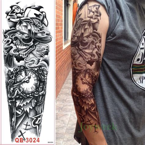 large temporary tattoos waterproof temporary sticker arm large skull