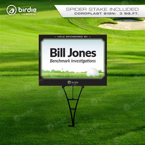 187 Sponsor Text Golf Tee Sign 18 X24 Golf Sponsor Sign Template