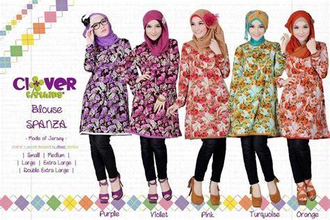 Kemeja Tunik Muslim Batik Klasik Pink Orange Bahan Katun Import jual clover baju batik remaja baju muslim atasan batik tokoalkhowwas
