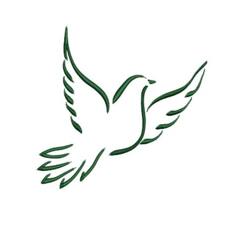 Dove designs flying dove embroidery design