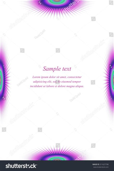 colorful invitation card template colorful page border design template invitation stock