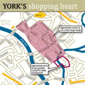 printable map york city centre york press york s shopping area map