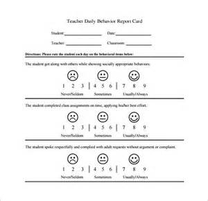 behavior chart template 12 free sle exle format