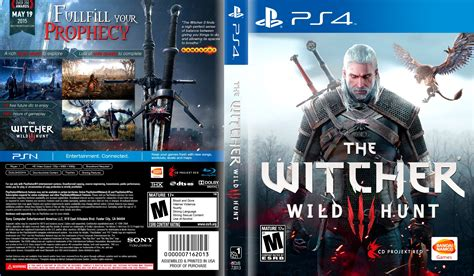 the witcher 3 wild hunt dvd cover 2015 ps4