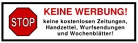 Aufkleber Transparent Briefkasten by Aufkleber Keine Werbung F 252 R Den Briefkasten Bestellen