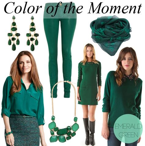 what goes with green color of the moment emerald green by lynny