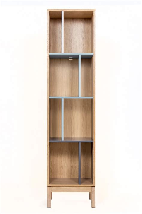 scandinavian modern bookcase in oak funique co uk