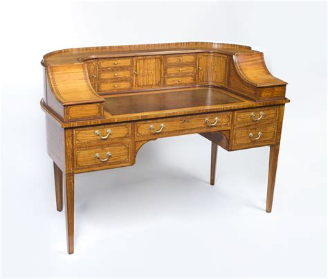 carlton house writing desk antique satinwood carlton house writing desk c 1880 ref