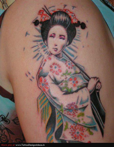 geisha flowers tattoo geisha tattoo images designs