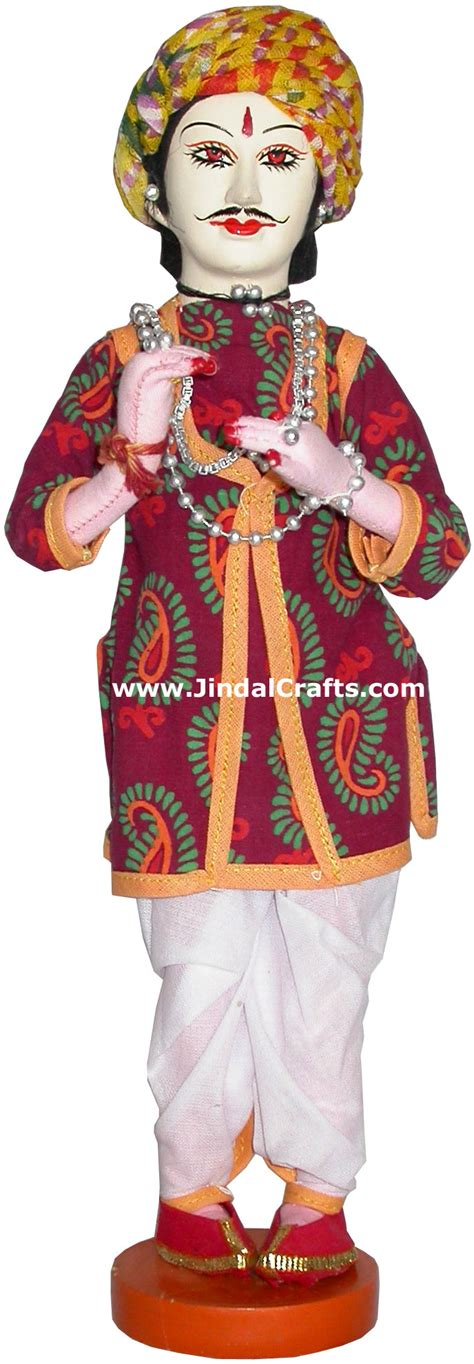 Handmade Indian Costume - handmade traditional indian collectible costume doll home