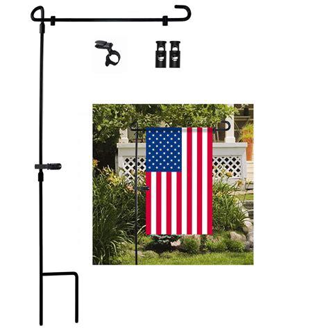 garden flag stand premium garden flag pole holder metal