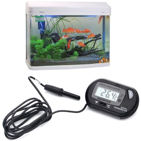 Termometer Aquarium Digital hde lcd digital fish tank aquarium thermometer pet supplies