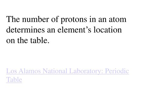 The Number Of Protons Determines The by Ppt Atoms And The Periodic Table Chapter Three