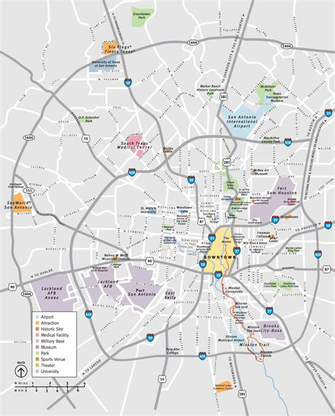 san antonio texas on the map san antonio map by area