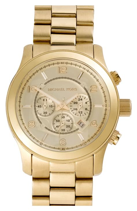 watches michael kors large gold runway