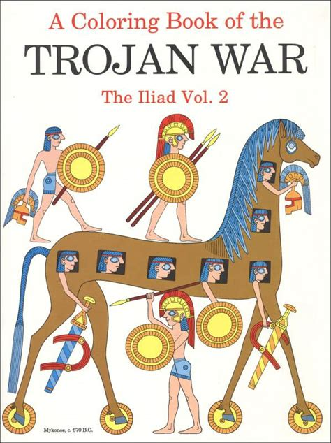 themes of the story iliad coloring book of trojan war iliad vol 2 004410 details