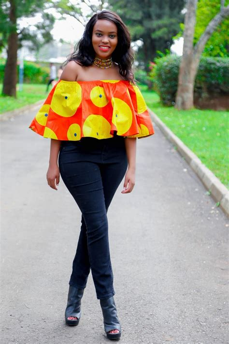 african kitenge tops ankara off shoulder top african print kitenge
