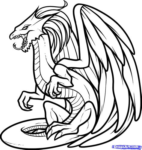 Draw A White Dragon White Dragon Step By Step Drawing Sheets Added By Dawn January 25 2012 Coloring Pages Drawings