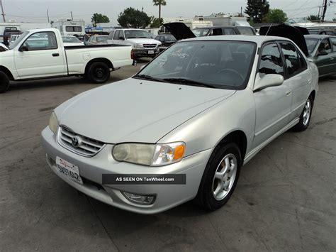 2001 Toyota Corolla S 2001 Toyota Corolla S Sedan 4 Door 1 8l