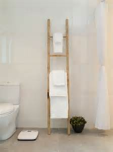 Modern Bathroom Towels Wooden Towel Ladder Both In The Rustic And The Modern Bathroom Fresh Design Pedia