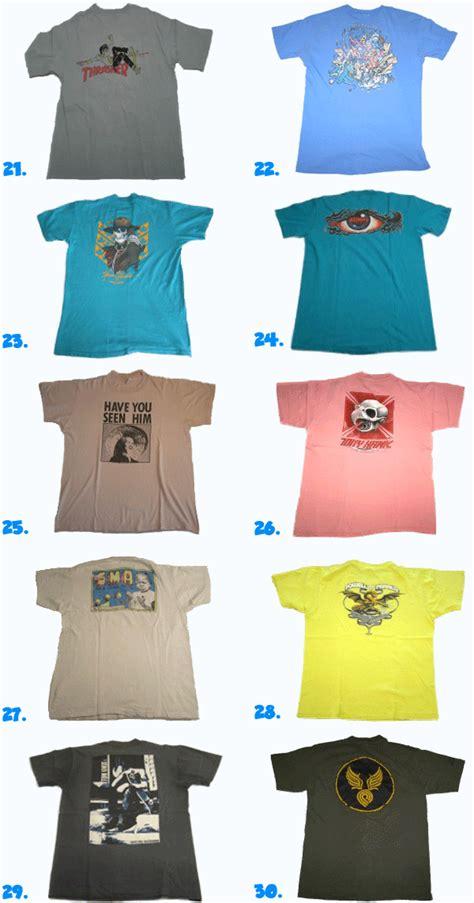 top 30 1980s vintage skateboard t shirts pt 1 santa