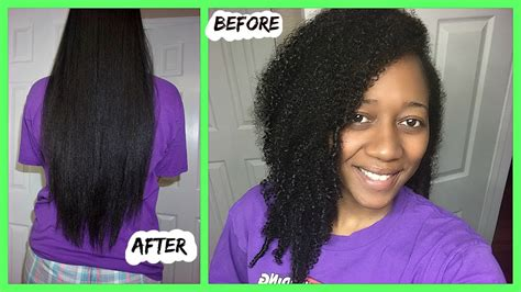 my natural curly hair has gone straight curly to straight natural hair routine type 4 hair youtube