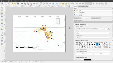 qgis tutorial scale qgis add legend scale bar and north arrow youtube