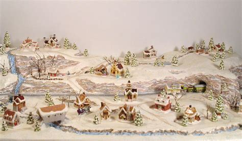 printable christmas village scene sylvia mobley at pinerose studio december 2011