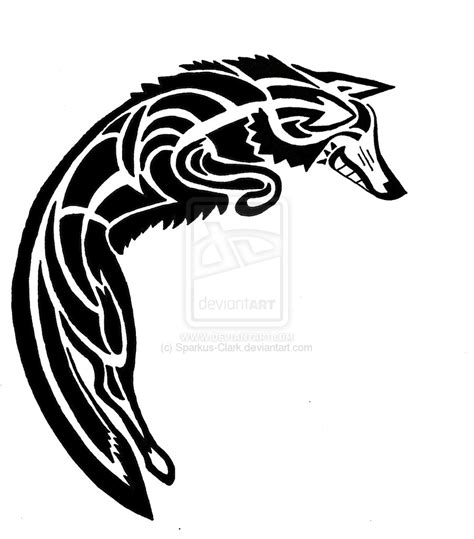 tribal coyote tattoos spirit coyote design by sparkus clark on deviantart