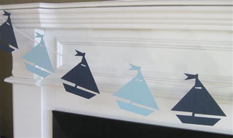 nautical theme sailboat nautical theme baby shower or birthday garland banner