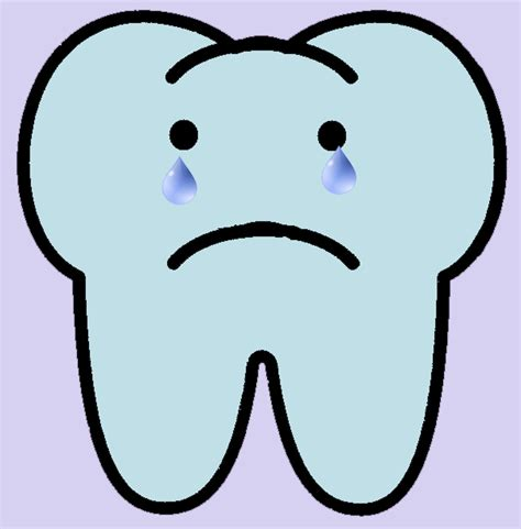 sad template sad tooth clipart best