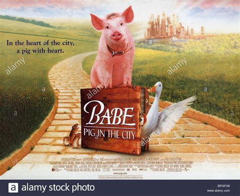 babe film ferdinand babe ferdinand poster babe pig in the city 1998 stock