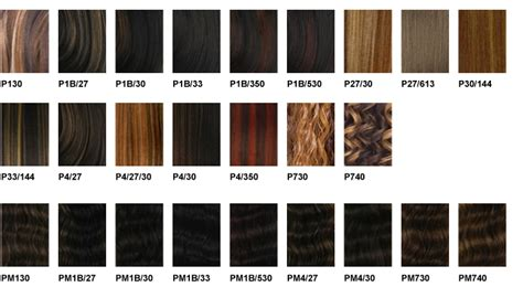 wig color chart freetress color charts