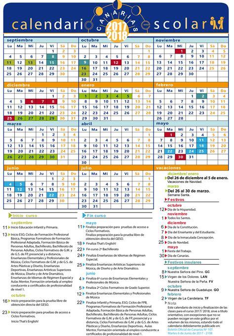 Calendario Vacaciones 2018 Calendario Escolar 2017 2018 Calendario
