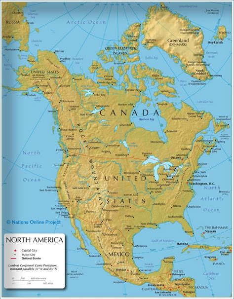 united states map with rivers and capitals the map shows the states of america canada usa and