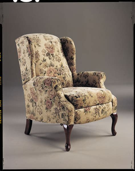 floral recliner formal floral chair with reclining footrest traditional