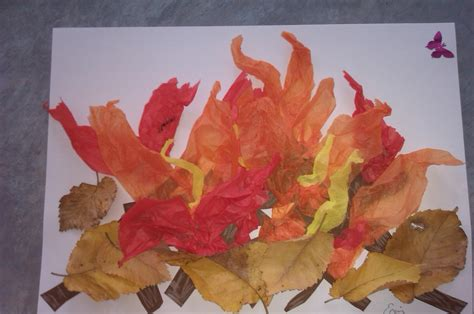 bonfire crafts for activities for bonfire collage
