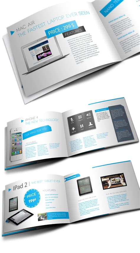 product brochure layout design products showcase brochure
