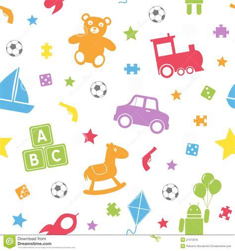 Kids Toys Seamless Pattern [1] Stock Vector   Image: 27472516