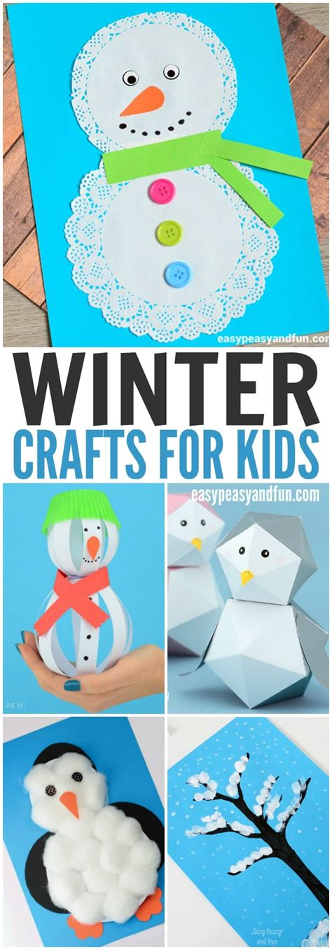 winter crafts for winter crafts for to make easy peasy and