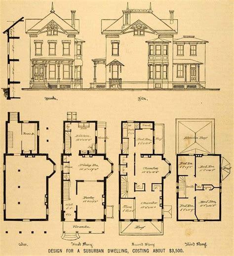 victorian mansion plans vintage victorian house plans 1879 print victorian house