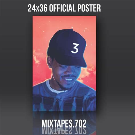 coloring book chance the rapper poster chance the rapper coloring book poster chance 3 original
