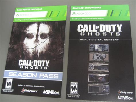 Call Of Duty Ghost Xbox One Digital Code h xbox 360 call of duty ghosts season pass bonus digital content dlc brand new w paypal