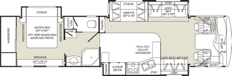 fleetwood bounder floor plans 2007 fleetwood bounder diesel class a rvweb