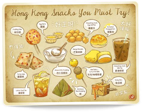 doodle 4 hong kong hong kong snacks you must try by carinat on deviantart
