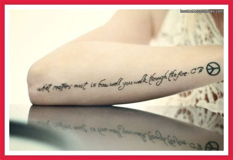 wrist quote tattoos wrist inspirational quotes quotesgram
