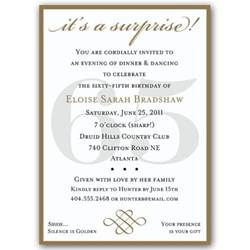 classic 65th birthday gold surprise invitations paperstyle